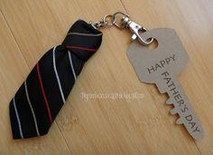 Ideia fácil de presente para o Dia dos Pais : Chaveiro de Gravata
