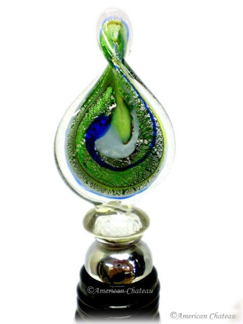 American Chateau - Murano Blown and Fused Art Glass Wine Bottle Stopper EB4ND095, C$13.04 (http://www.americanchateau.com/Murano-Blown-and-Fused-Art-Glass-Wine-Bottle-Stopper-EB4ND095/)