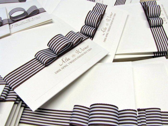 Black and white wedding invitations from The Letter Chef www.letterchef.co.za