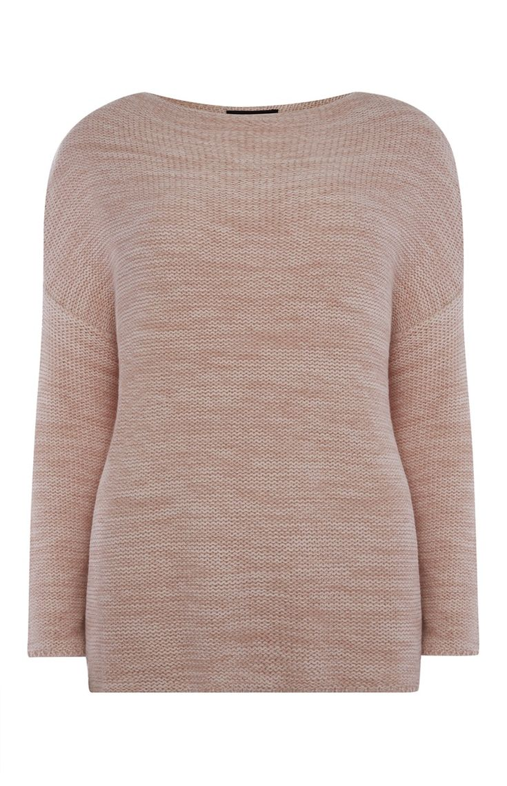 Primark - Pink Reverse Stitch Slash Neck Jumper
