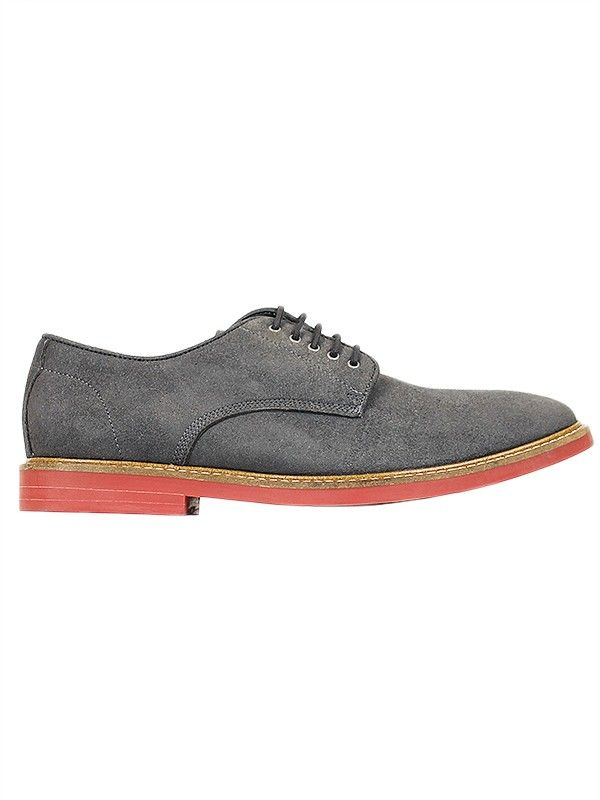 Vegan Vegetarian Non-Leather Mens Suede Derby Casual Shoes Grey