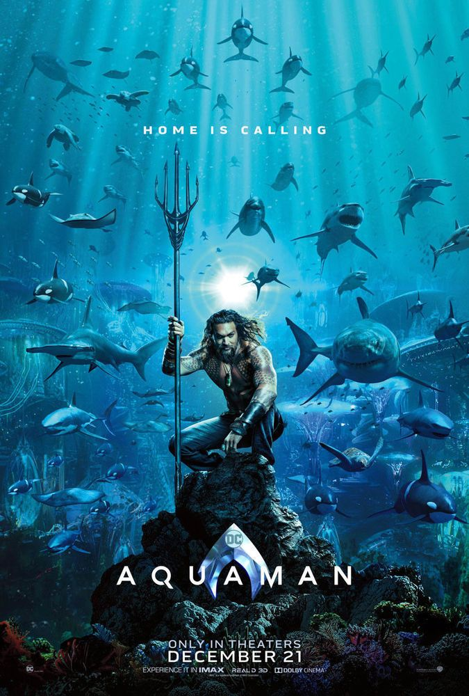 Aquaman 2018 Original D S Movie Poster 27 X 40 Dc Comics Aquaman Filmes On Line Filme Aquaman