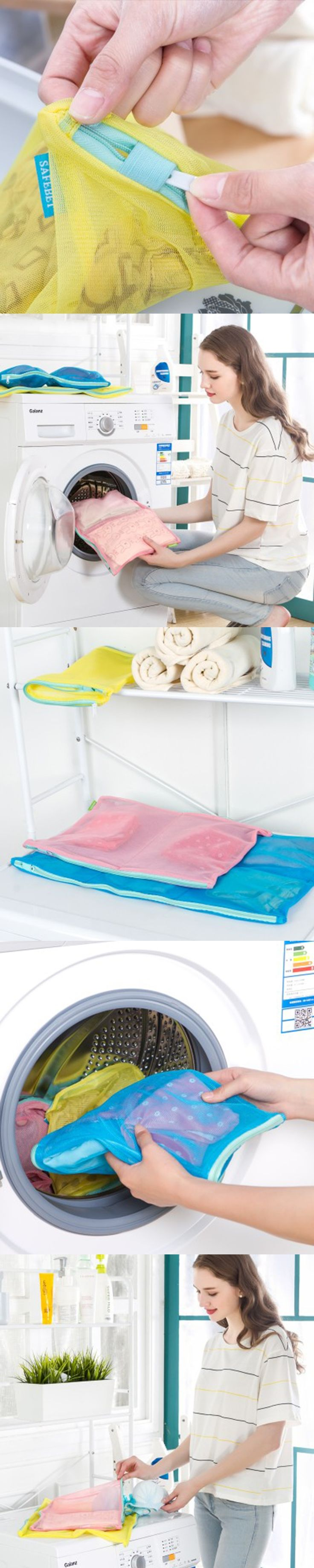 Laundry Saver Washing Machine Aid Bra Underwear Lingerie Mesh Wash Basket Bag into 8 Meshes Separate Washing Protector Clothing