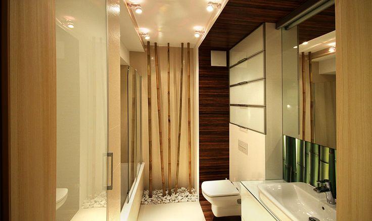 Nowoczesna łazienka z bambusami