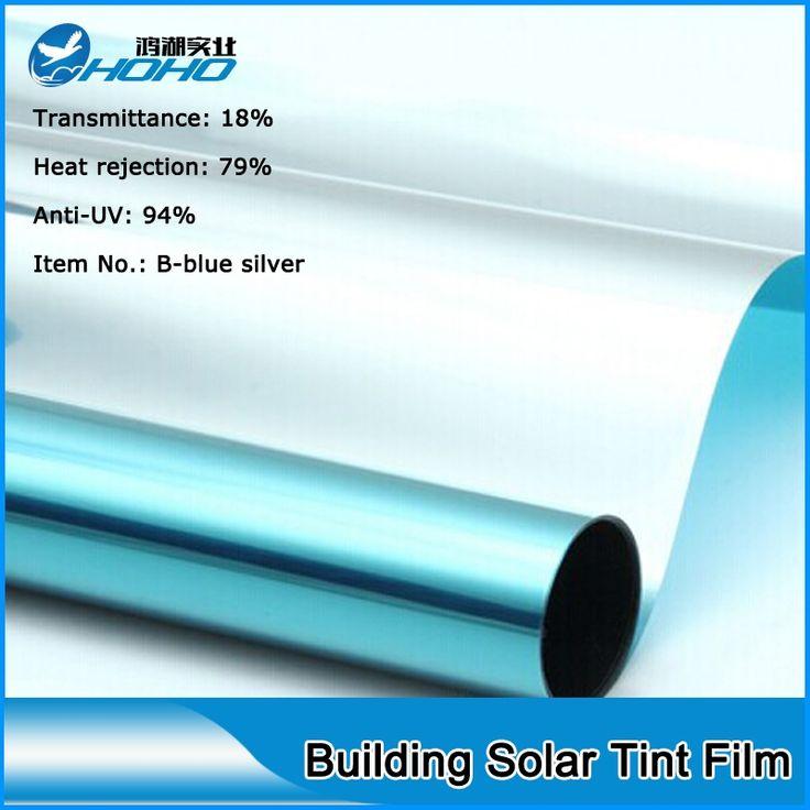 69.32$  Buy here - http://alia98.worldwells.pw/go.php?t=32391117172 - 152cmx500cm Hot sale Blue Sliver Building window tint film/Privacy window film/Solar Control Window Film 69.32$