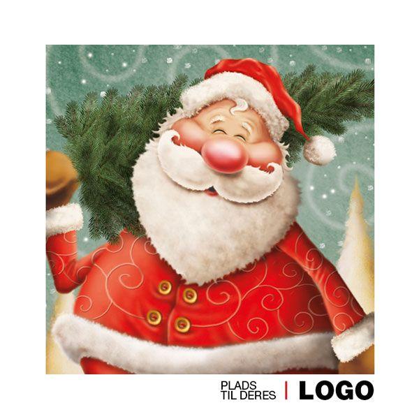 Julekort med støtte 2013. Motiv: Julemand, julepynt ...