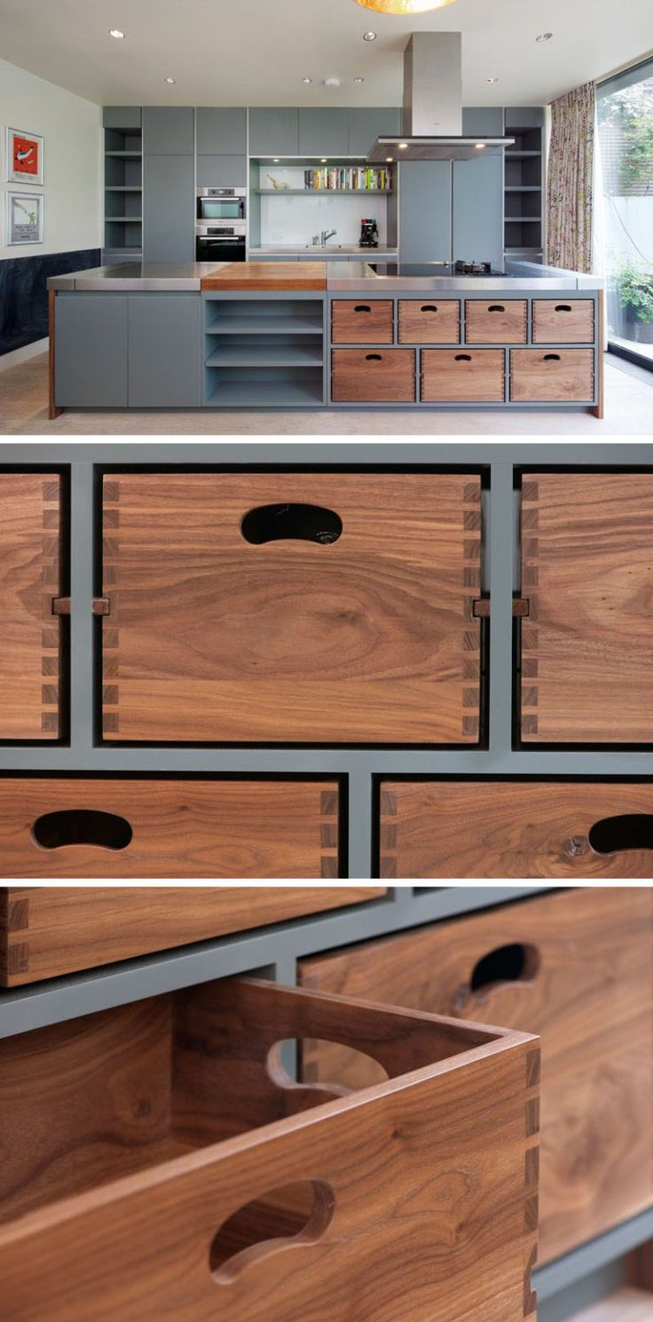 This Kitchen Island Has Removable Dovetail Boxes