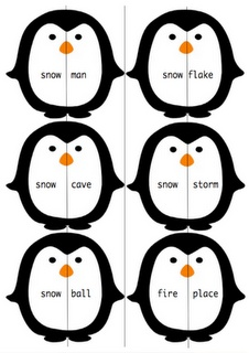 Penguin compound word cards...free download