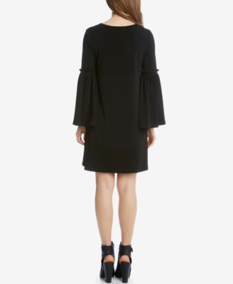 Karen Kane Bell-Sleeve Peasant Dress - Black XS