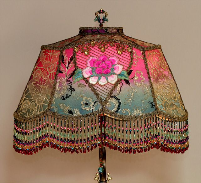 Art Nouveau Style Victorian Lampshade Stunning About 3k