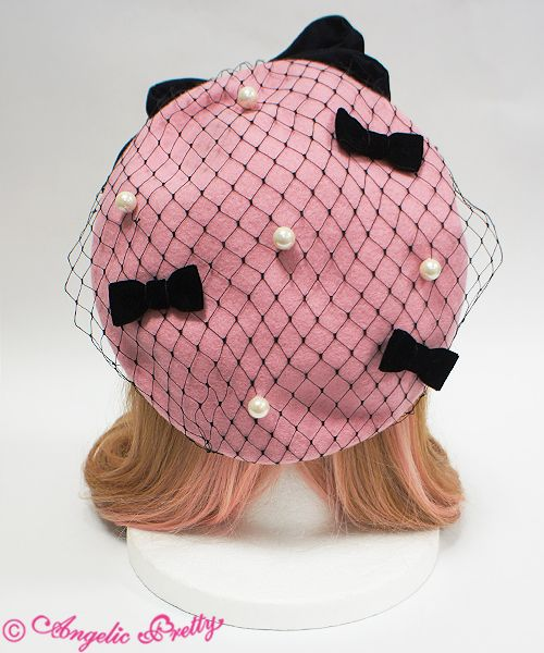 Dolly Lady Ribbon Beret - Pink