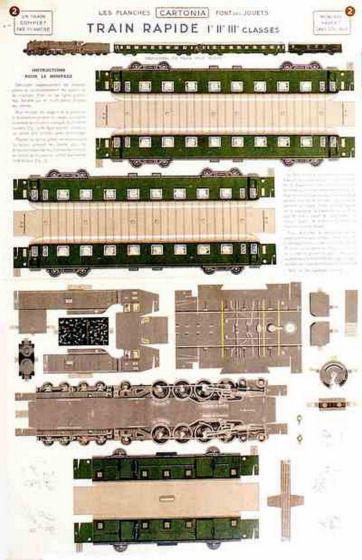 Train rapide 1935, France.