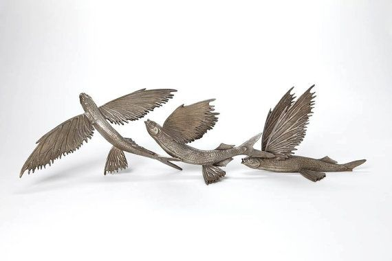 Flying fish sculpture