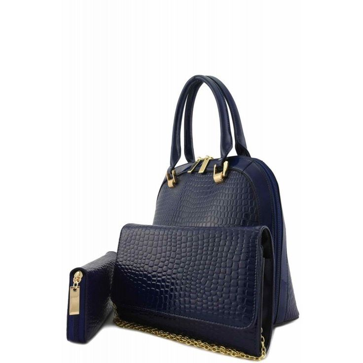 #DESIGNER PATENT CROC 3 IN 1 #HANDBAG SET $60