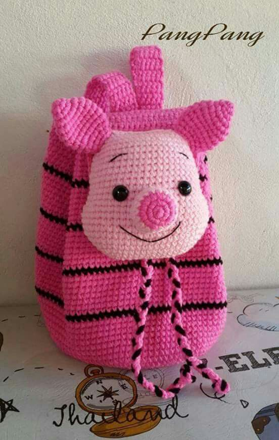 Mochilas | leitão | ursinho pooh | infantil | amigurumi | croche