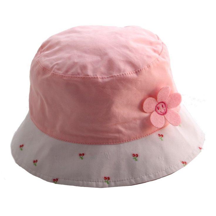 Sun hat- Pink w Floral - Hats, Caps & Beanies - Baby Belle