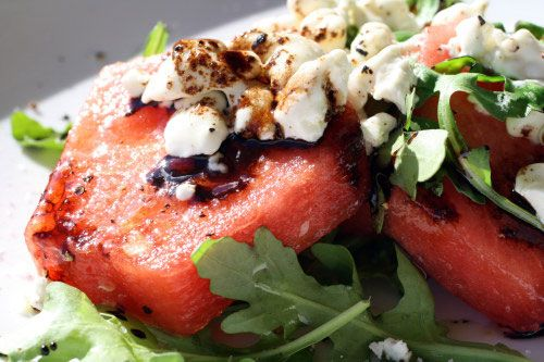 My favorite salad....Watermelon, Arugula & Feta (...or goat cheese!): Watermelon Salad, Chevr Salad, Theme Food, Flash Recipes, Goats Cheese Salad, French Revolutions, French Food, Chee Salad, Arugula