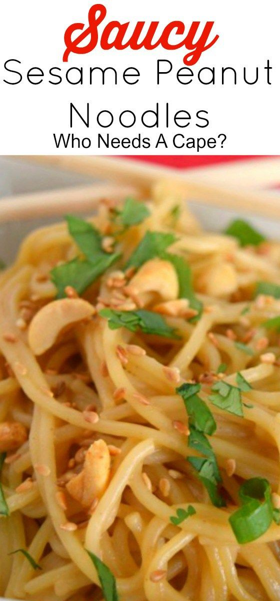 Ready in a snap these flavorful Saucy Sesame Peanut Noodles are perfect for lunch or dinner. Loaded with flavor they'll become a family favorite!