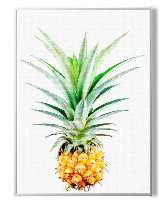 Pineapple PrintTropical Wall Art DecorPrintable от YourPrintsShop