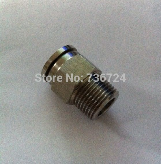 Tube 1/8-1/4 NPT thread stainless steel 316 male straight pneumatic Push in fittings #Affiliate