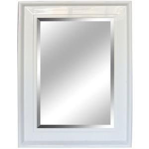 Yosemite Home Decor 34 in. x 45.5 in. Rectangular White Decorative Framed Mirror-YM002S1-90W at The Home Depot