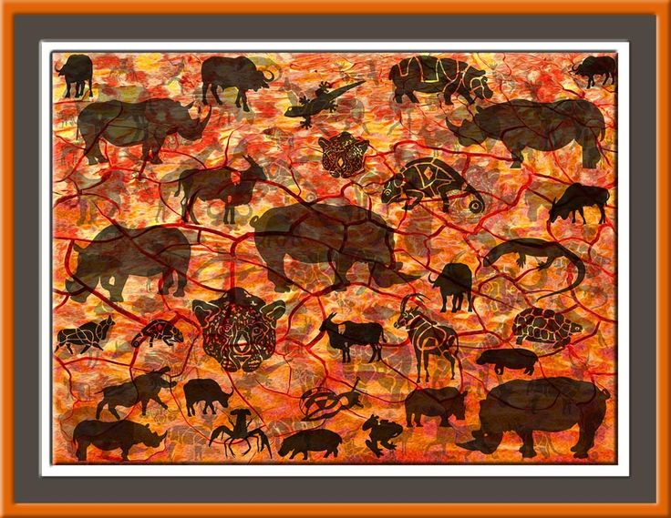 Sun Animals Son Diere 52 cm x 38 cm small http://julianventer.com/sun-animals.html  LIMITED Edition Giclee Prints on fine textured paper available now smile emoticon  The SUN is our most beautiful star. She is the bringer of light and heat into the world. She is the blazing hero or heroine: 'Nike Victorious', she is conquest and challenges, the warrior, the proud. She is the revitalizing source power that feeds all life. She is the one who challenges us to cultivate our best self. In her…