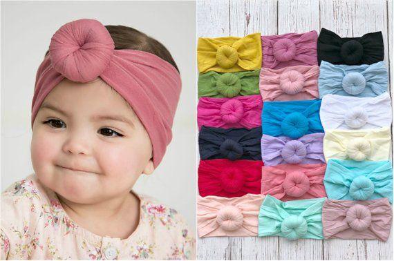 Baby turban Headband Round Knot turban head wrap Nylon 054f2df22e2