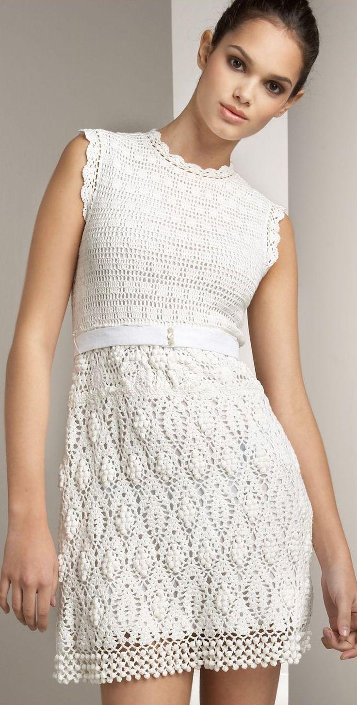 Vestidos Blancos Tejidos A Crochet