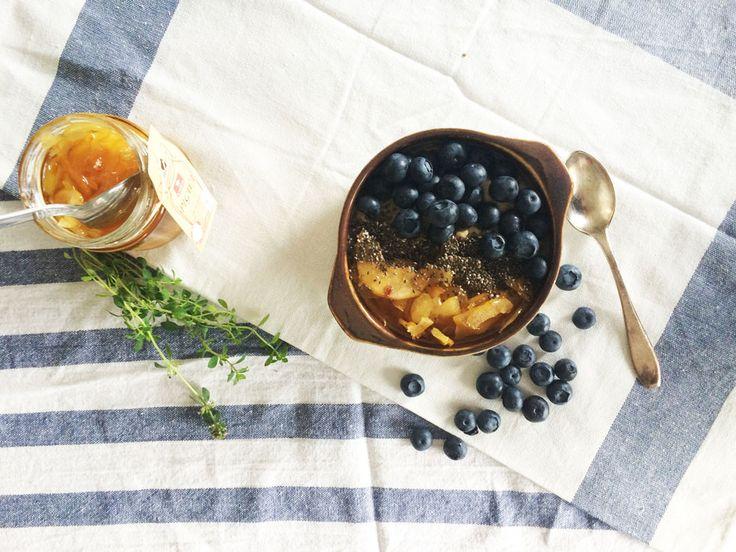 śniadanie z quinoa i pigwą