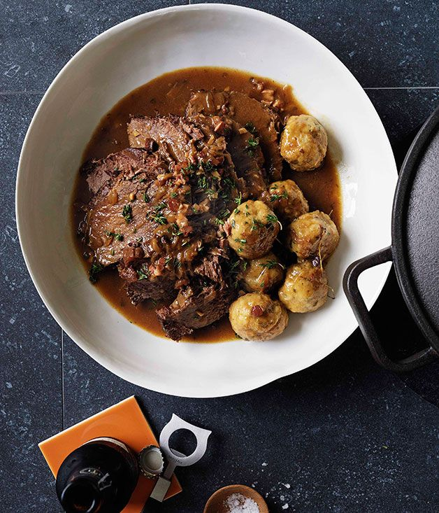 Beef, beer and dumplings - Gourmet Traveller