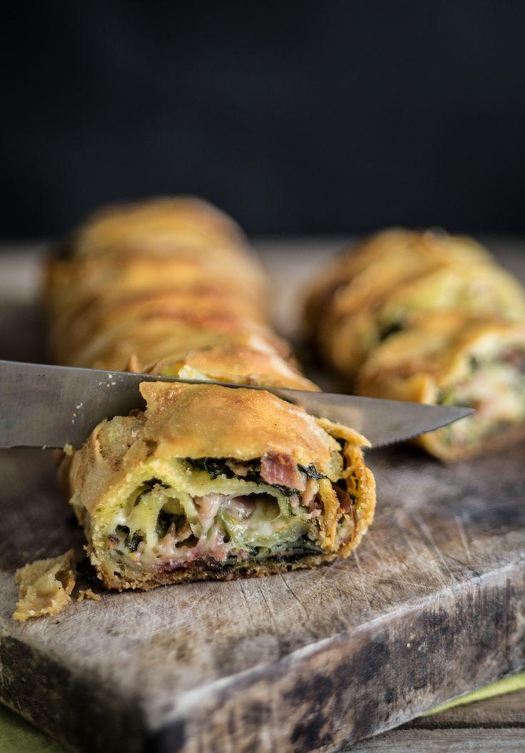 Strudel spinaci, bresaola e mozzarella