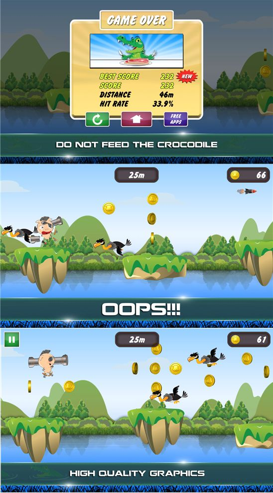Help the pig jump and shoot in Pig Jump on Windows Phone - Nokia WP Blog