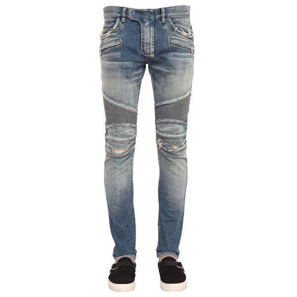 Ripped Biker Jeans by Balmain