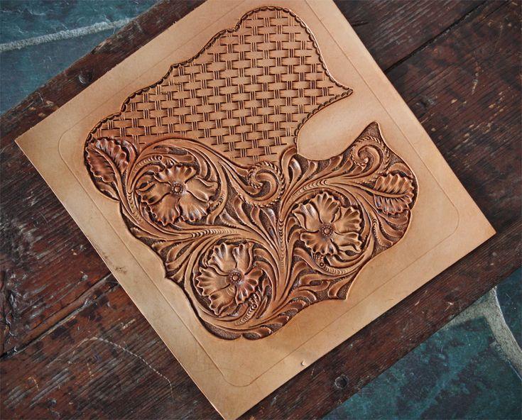 Leather work basket weave laser art pinterest