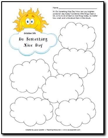 Do Something Nice Day Freebie (October 5th)