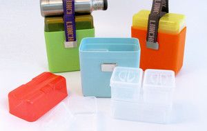 Contemporary lunch boxes.