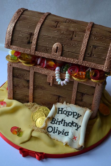Pirate Treasure Chest - by yummumcakeco @ CakesDecor.com - cake decorating website