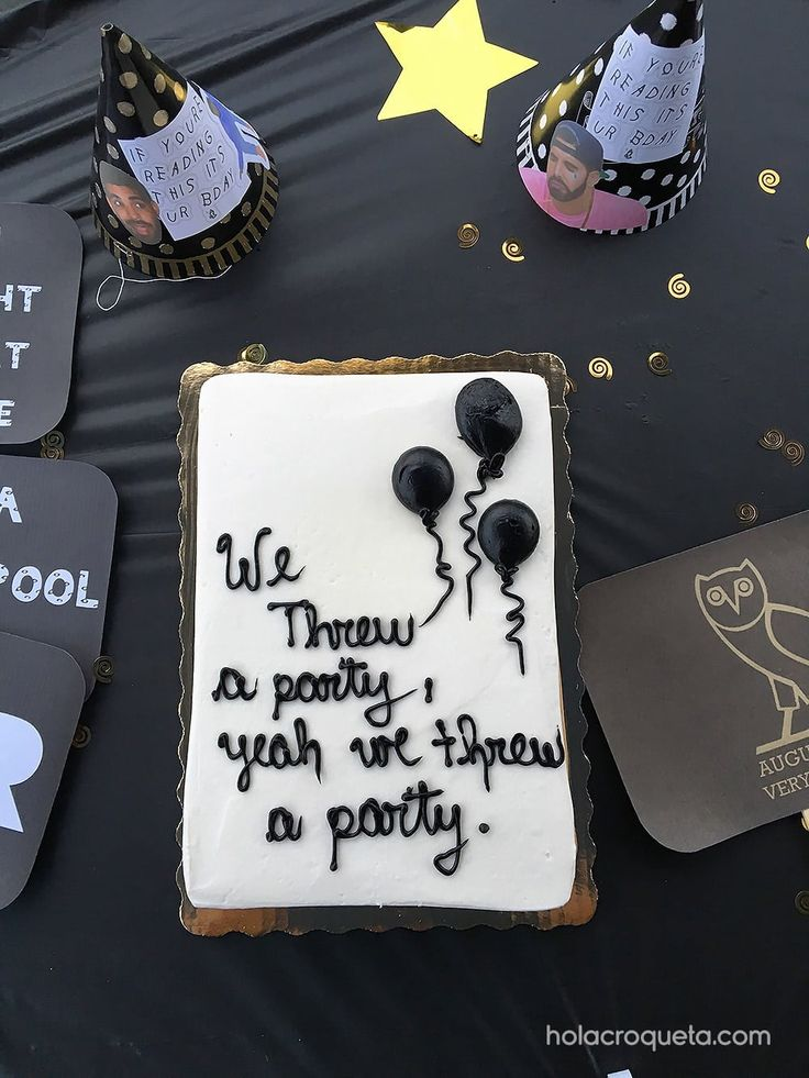 32 best Drake Birthday Party Theme images on Pinterest Drake cake
