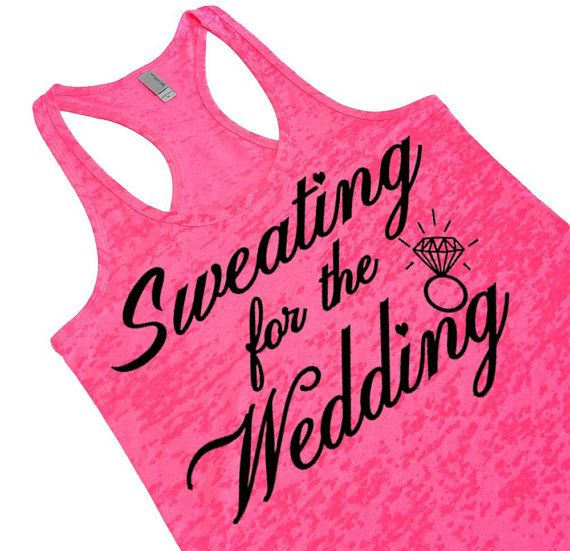 Sweating for the Wedding. Women's Burnout Tank by EconomyGrocery