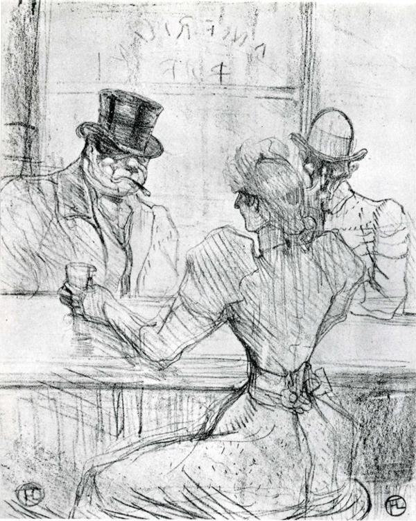 Henri de Toulouse-Lautrec At The Bar Picton, Rue Scribe 1896