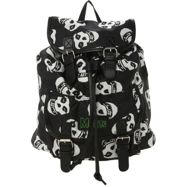 Misfits Fiend Skull Slouch Backpack | Hot Topic (€25) ❤ liked on Polyvore featuring bags, backpacks, backpack, accessories, slouchy bag, skull bag, skull backpack, knapsack bags and rucksack bag