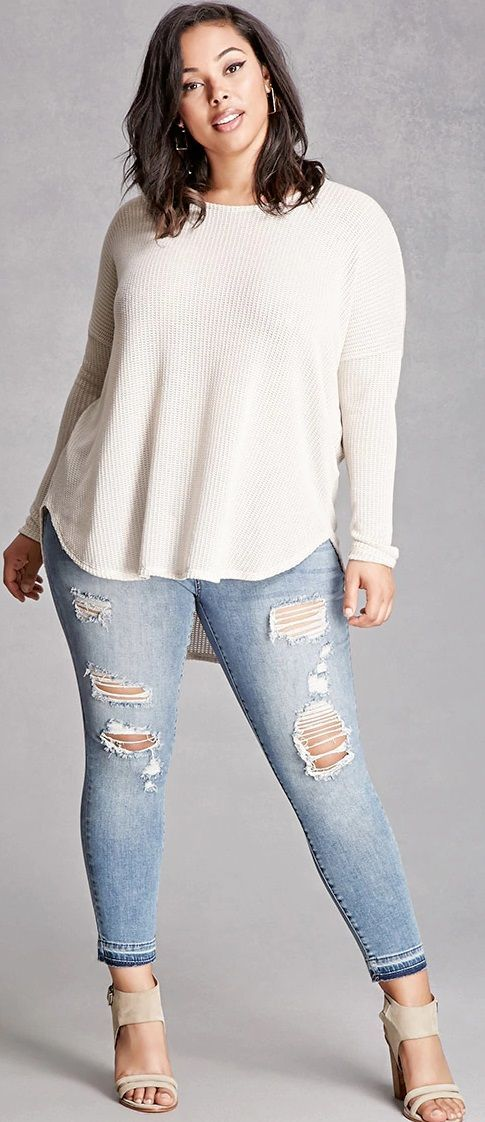 Plus Size Mid-Rise Skinny Jeans  Explore our amazing collection of plus size tops at http://wholesaleplussize.clothing/