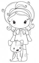 C.C. Designs Puppy Kiki La Rue Rubber Stamp