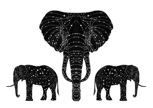 Mehndi Elephant Coloring Pages : Best elephants images elephant and