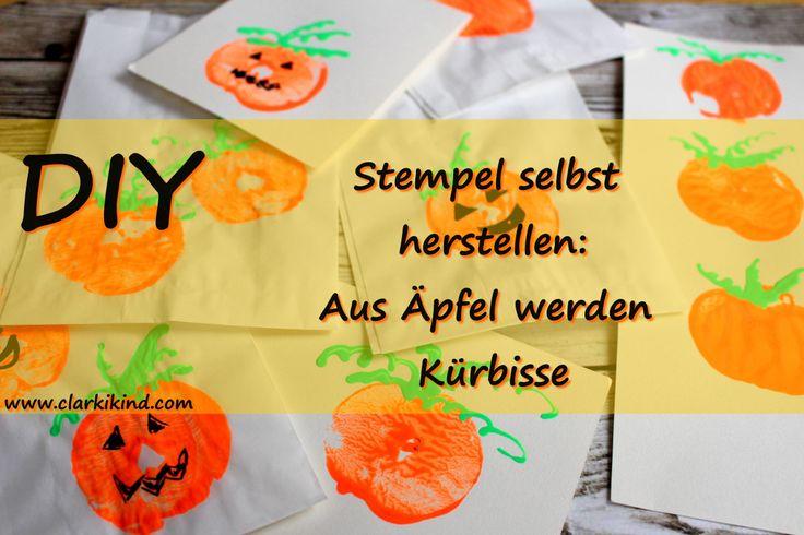DIY zu Halloween: Kürbis-Stempel