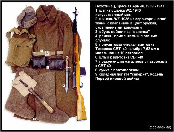 Пехотинец Красной Армии, 1939-1941, (форма-зима)