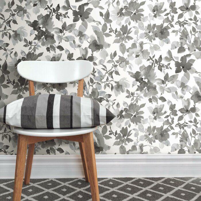 Roommates 28 2 Neutral Watercolor Floral P S Wallpaper Tan Peel