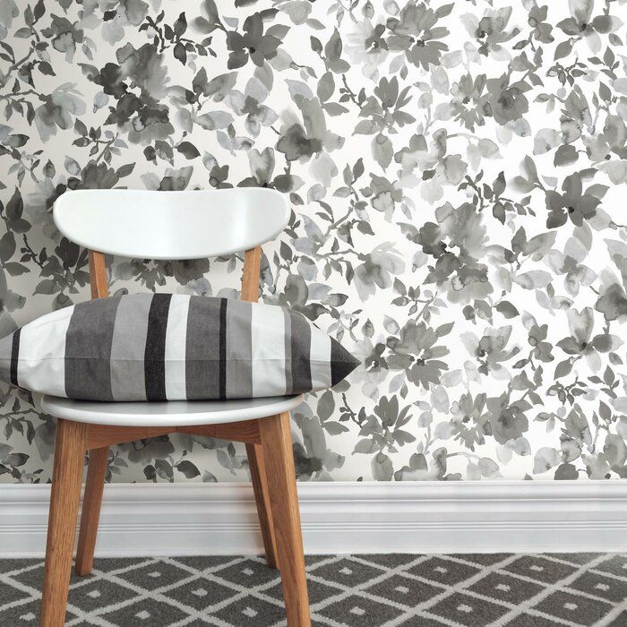 Cansler Floral Peel And Stick Wallpaper Roll In 2020 Peel Stick