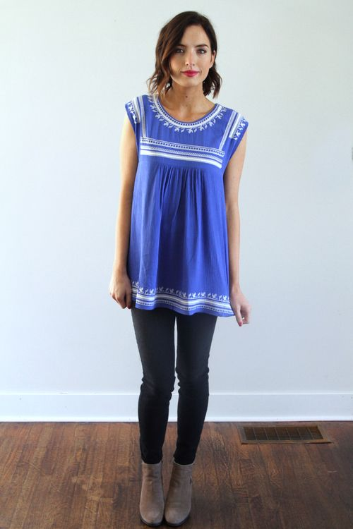 Must Have Tunic in Blue, Size S
