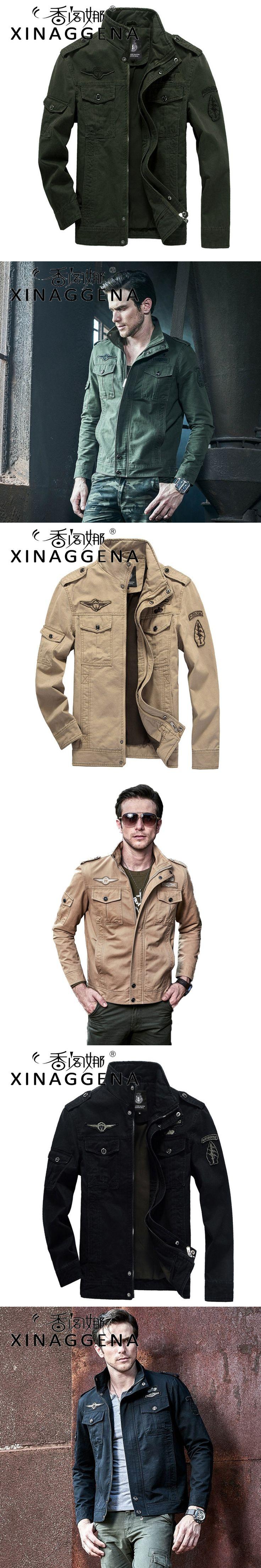 American Military Uniform Jackets Men Youth Moto Biker Zipper Jacket Safari Style Chaqueta 6XL School Season Flight Suit Jaqueta